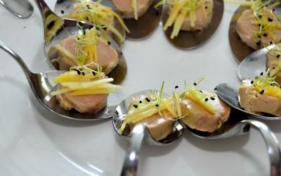 Foie amb Làmina de Mango - Fotografía restauració ZAL FORUM